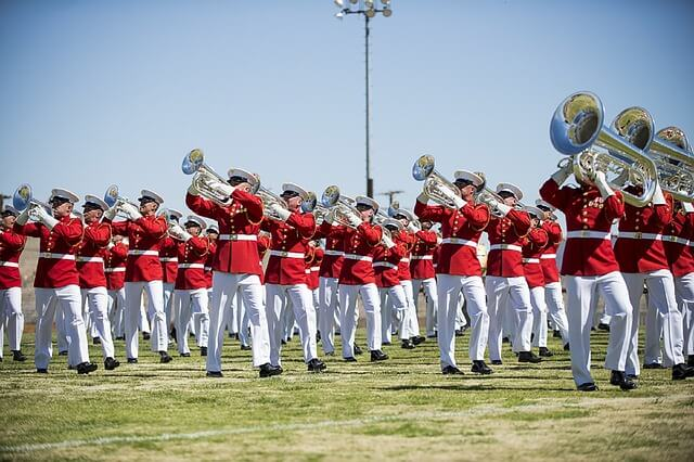marching band marines