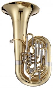 Jupiter XO Professional C Tuba 5 Valve Silver Plated