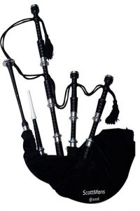 Bagpipe Black Mounts Full Nickel Silver
