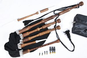 Full Size Scottish Great Highland Rosewood Bagpipe Complete Wooden Set