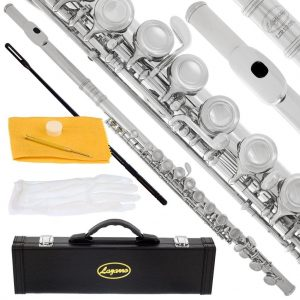 Lazarro Professional Silver Nickel Closed Hole C Flute