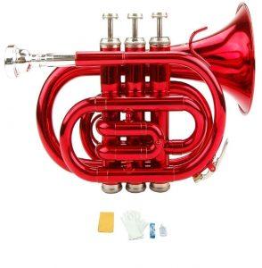 Merano B Flat Red Pocket Trumpet